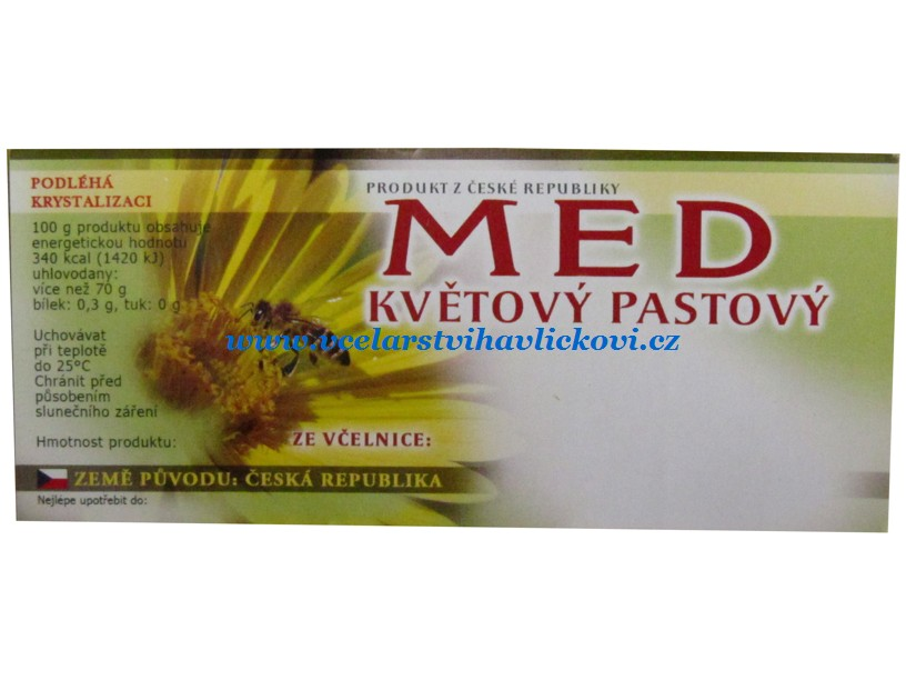 Etiketa MED květový pastový