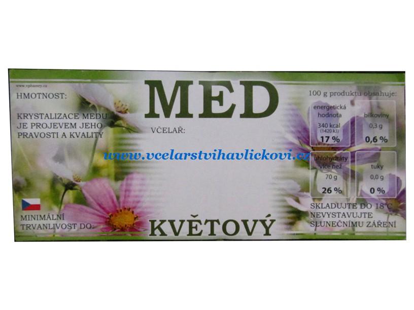 Etiketa MED květový