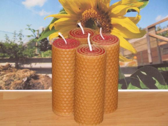 Adventní svíčky žluto-červené