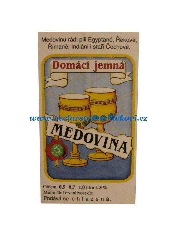 Etiketa medovinu KRESLENÁ
