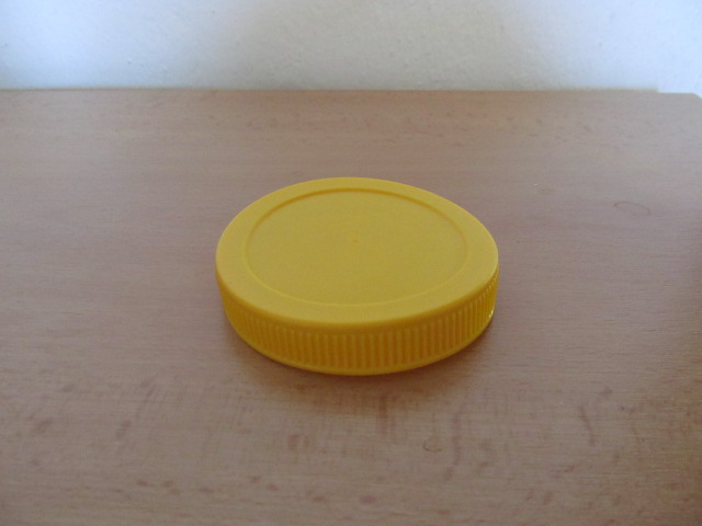 Víčko TO 82 plastové žluté (Víčko na sklenice se závitem)
